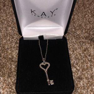 Kay jewelers 925 ss heart key necklace